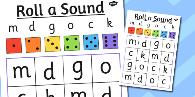 Roll a Sound Activity Mat Phase 2 m, d, g, o, c, k - phase 2