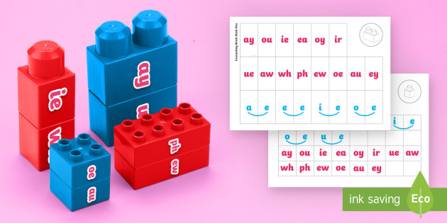 Phase 5 Phonics Matching Connecting Bricks Game - EYFS, Early years, KS1, Literacy, phonics, letters and sounds, phase 5, word building reading, lette