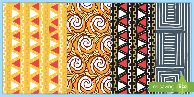 NEW African Style Patterns A40 Display Pack Africa Theme Cool African Patterns