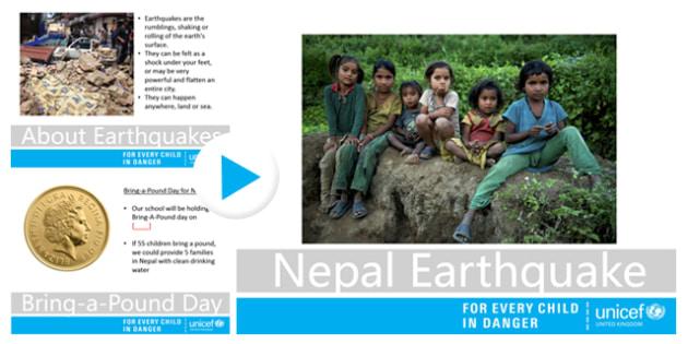 Nepal Earthquake Unicef UK Primary School Assembly - unicef