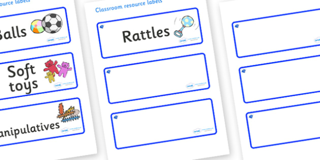 Sapphire Blue Themed Editable Additional Resource Labels - Themed Label template, Resource Label, Name Labels, Editable Labels, Drawer Labels, KS1 Labels, Foundation Labels, Foundation Stage Labels, Teaching Labels, Resource Labels, Tray Labels, Prin
