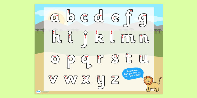 Safari Themed Letter Writing Worksheet - writing template, write