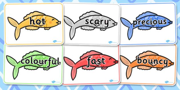Vocabulary on Fish - vocabulary, fish, words, topic, display