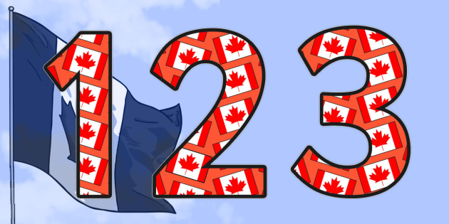 Canada Themed Display Numbers - canada, countries, country