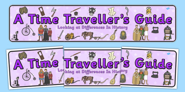 A Time Traveller's Guide Display Banner - header, banner, display