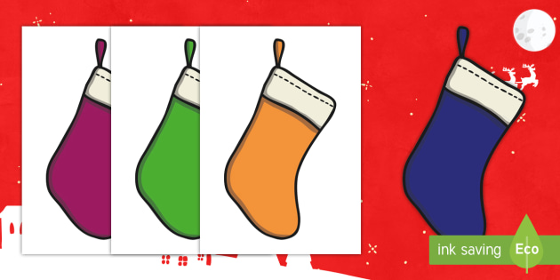 Christmas Editable A4 Stockings Plain - christmas, xmas, editable, image, editable image, editable picture, stockings, plain stockings, editable plain stockings for display, editable display image, display, display picture