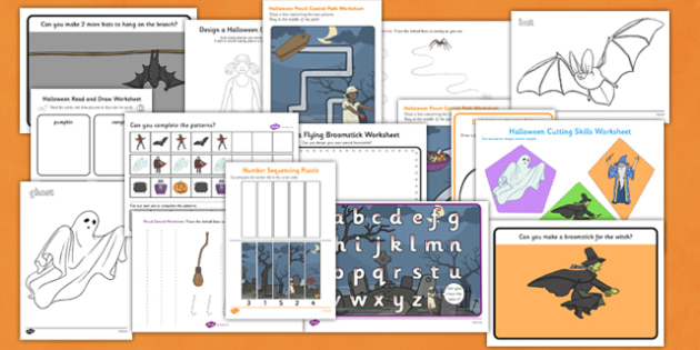 Halloween Themed Fine Motor Skills Resource Pack - skill, packs