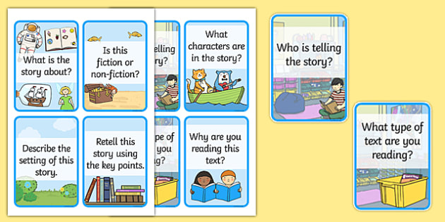 Reading Comprehension Question Cards - reading, reading cards, reading flash cards, comprehension, reading comprehension, comprehension card, reading question cards