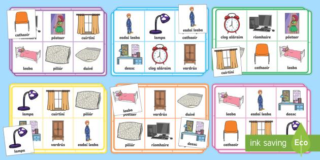 In The Bedroom Bingo Gaeilge   Home, House, Rooms, Sa Bhaile, Seomra