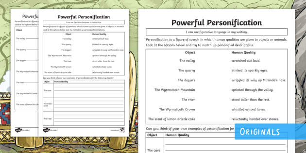 personification in writing