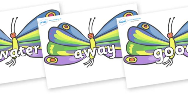 Next 200 Common Words on Butterflies to Support Teaching on The Very Hungry Caterpillar - Next 200 Common Words on  - DfES Letters and Sounds, Letters and Sounds, Letters and sounds words, Common words, 200 common words