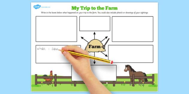 My Trip to the Farm Worksheet - farm, worksheet, trip, sheet