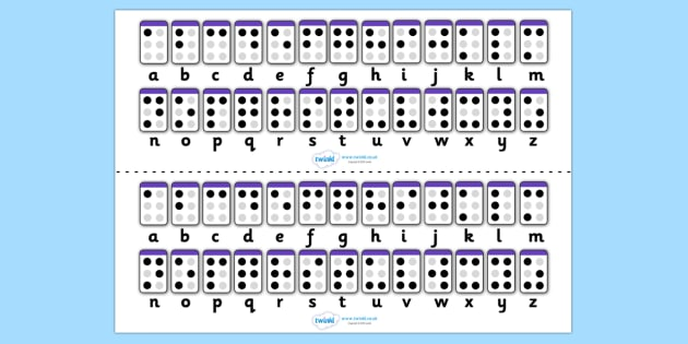 FREE! - Braille Alphabet Strips - braille alphabet strips ...