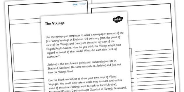 Who Were the Vikings Worksheet - vikings, ancient vikings, viking worksheet, who were the vikings, vikings newspaper article, viking newspaper, ks2 history