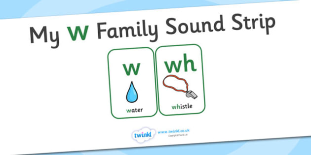 My w Family Sound Strip - family sound strip, sound strip, my family sound strip, my w sound strip, w sound strip, w family sound strip
