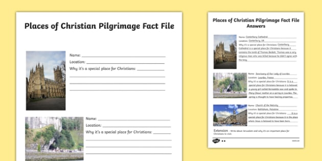 places of christian pilgrimage fact file writing frames differentiated. Black Bedroom Furniture Sets. Home Design Ideas