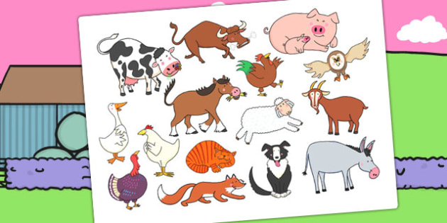Story Cut Outs to Support Teaching on Farmyard Hullabaloo - farm, stories, cut outs
