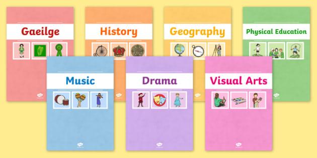 Editable A4 Divider Covers - editable, a4, divider, covers, subjects, topics, binder