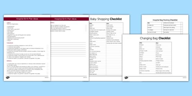 Baby Preparation Resource Pack - baby preparation, resource, pack