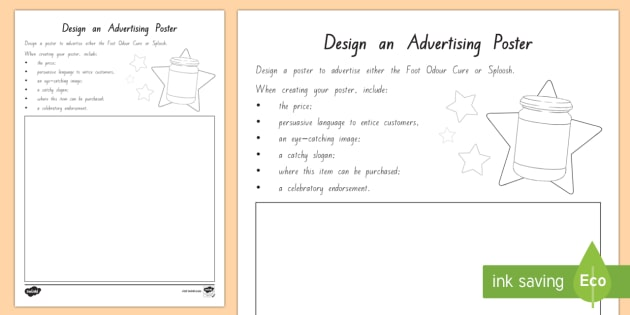 FREE! - Design an Advertising Poster to Support Teaching ...