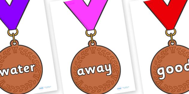 Next 200 Common Words on Bronze Medals - Next 200 Common Words on  - DfES Letters and Sounds, Letters and Sounds, Letters and sounds words, Common words, 200 common words