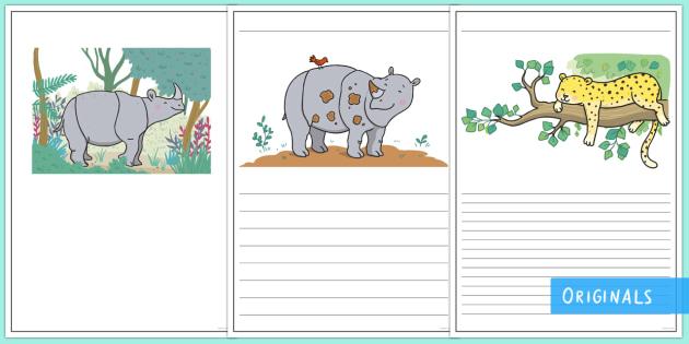 Ronald the Rhino Writing Frames - Ronald the Rhino, rhyming, pattern, story, jungle, Africa, rhino,