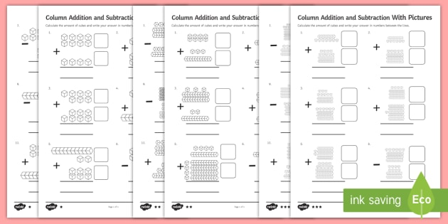 column addition with pictures worksheet activity sheet year. Black Bedroom Furniture Sets. Home Design Ideas