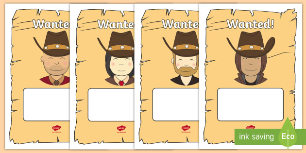 Wanted Cowboy Poster Templates - Cowboy, wanted poster