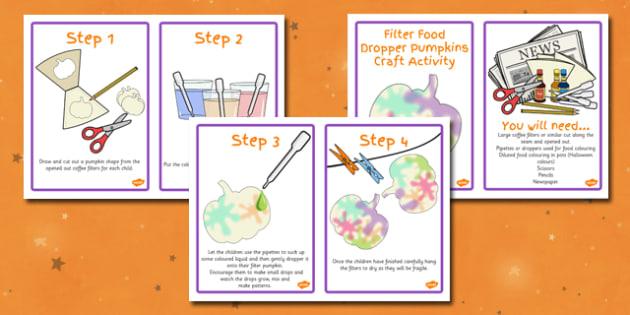 Filter Food Dropper Pumpkins Activity Instructions - activity