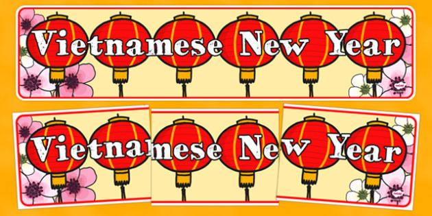 Vietnamese New Year Display Banner - vietnamese, new year, display banner, display, banner