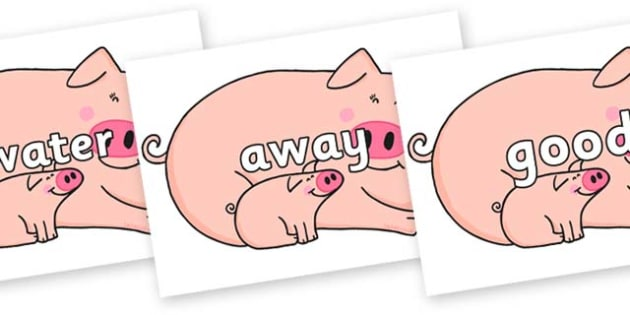 Next 200 Common Words on Hullabaloo Pigs to Support Teaching on Farmyard Hullabaloo - Next 200 Common Words on  - DfES Letters and Sounds, Letters and Sounds, Letters and sounds words, Common words, 200 common words