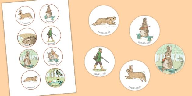 Beatrix Potter - The Story of a Fierce Bad Rabbit Story Cut Outs - beatrix potter, fierce bad rabbit