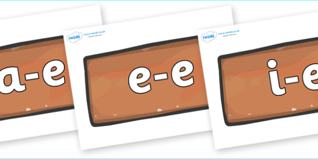 Modifying E Letters on Bricks - Modifying E, letters, modify, Phase 5, Phase five, alternative spellings for phonemes, DfES letters and Sounds