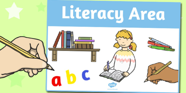 Literacy Area Sign - area, sign, area sign, literacy area, sings