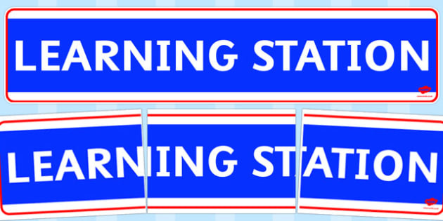 Learning Station Display Banner - learning station, display banner