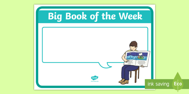 Big Book of the Week Display Poster - New Zealand Class Management, bog book, reading