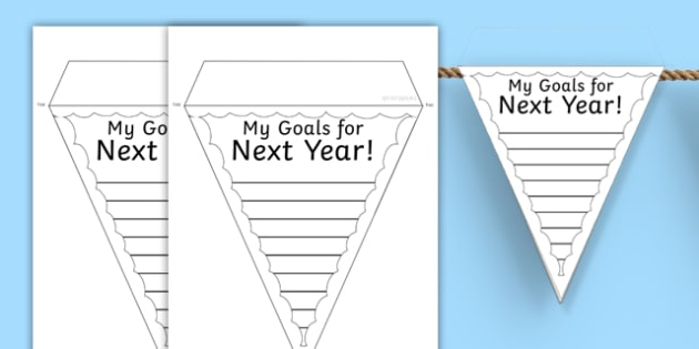 My Goals For Next Year Transition Bunting - transition, targets