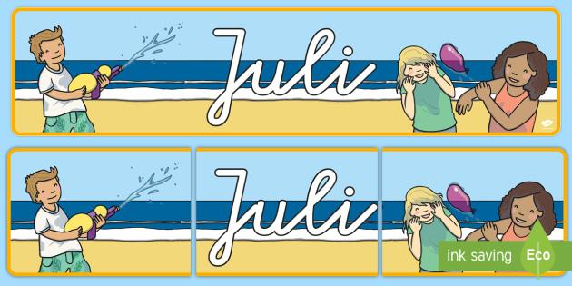 Juli Display Banner German - german, july, display banner, display, banner
