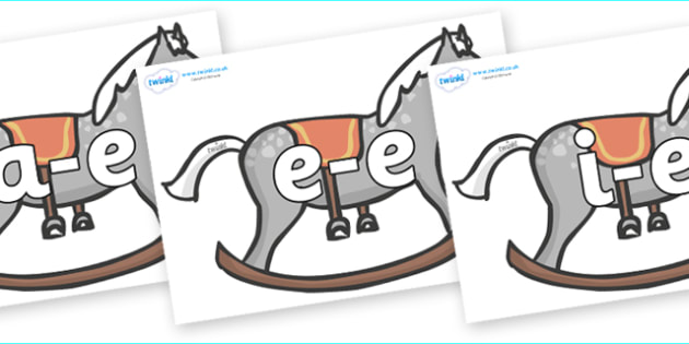 Modifying E Letters on Rocking Horses - Modifying E, letters, modify, Phase 5, Phase five, alternative spellings for phonemes, DfES letters and Sounds