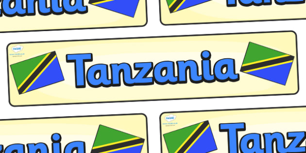 Tanzania Display Banner - Tanzania, Olympics, Olympic Games, sports, Olympic, London, 2012, display, banner, sign, poster, activity, Olympic torch, flag, countries, medal, Olympic Rings, mascots, flame, compete, events, tennis, athlete, swimming