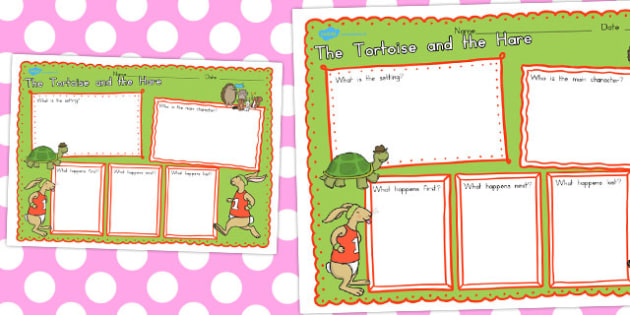 The Tortoise and the Hare Book Review Writing Frame - australia