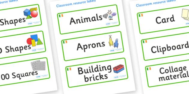 Ireland Themed Editable Classroom Resource Labels - Themed Label template, Resource Label, Name Labels, Editable Labels, Drawer Labels, KS1 Labels, Foundation Labels, Foundation Stage Labels, Teaching Labels, Resource Labels, Tray Labels, Printable l