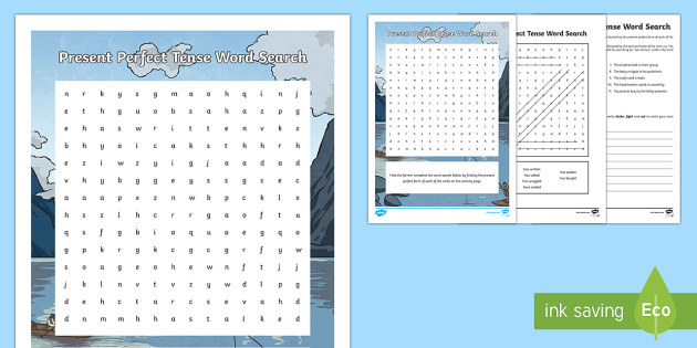 Year 3 Grammar: Present Perfect Tense Word Search - wordsearch, perfect present tense, year 3 grammar, auxiliary verbs, SPaG, GPS