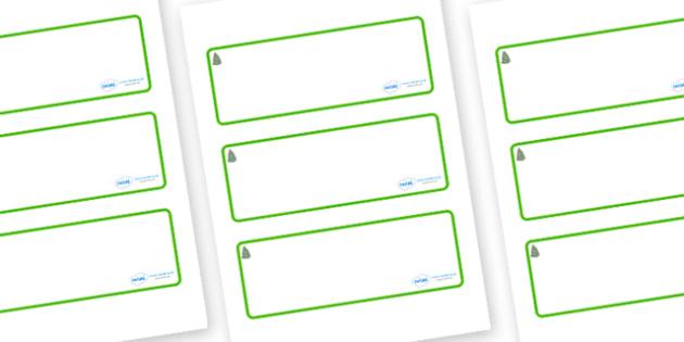 Spruce Themed Editable Drawer-Peg-Name Labels (Blank) - Themed Classroom Label Templates, Resource Labels, Name Labels, Editable Labels, Drawer Labels, Coat Peg Labels, Peg Label, KS1 Labels, Foundation Labels, Foundation Stage Labels, Teaching Label