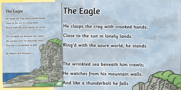 The Eagle' by Alfred Lord Tennyson Poem Poster