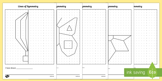 Drawing Lines Of Reflection : Symmetry worksheets reflections