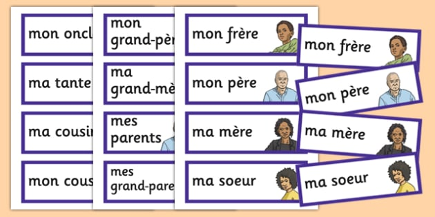 French Meet My Family Word Cards - french, meet my family, meet, family, word cards