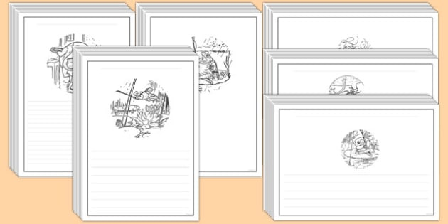 The Tale of Mr Jeremy Fisher Story Writing Frames - jeremy, fisher, writing, frames, story, beatrix potter