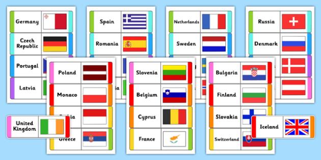 European Flags Loops Cards - european, flags, loops, cards, loop cards