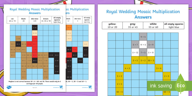 NEW * KS1 Royal Wedding 2, 5 and 10 Multiplication and